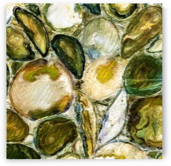 Green Stones in a Cut by Boyan Savov
