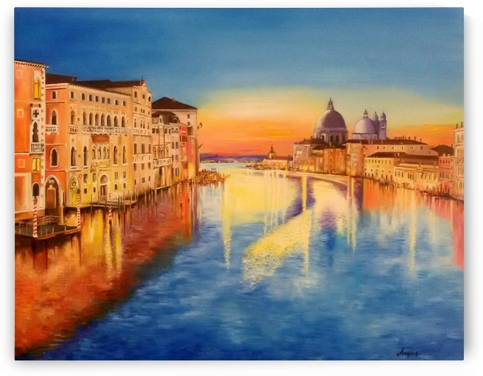 Sunset on the Grand Canal by Anna Rita Angiolelli