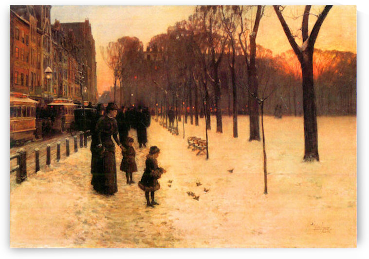 Boston in everyday twilight by Hassam by Hassam