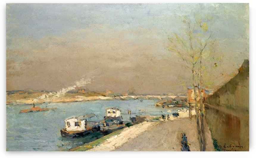 Quay of the Seine, Spring Morning by Albert lebourg