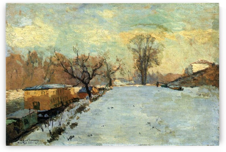 The Seine in Winter by Albert lebourg