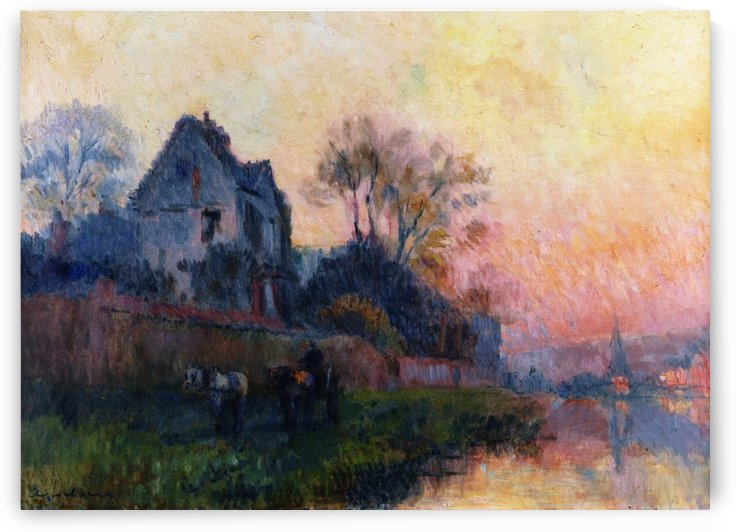 The Banks of the Seine by Albert lebourg