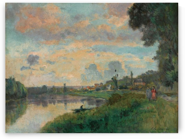 The Banks of the Seine in the Outskirts of Rouen by Albert lebourg