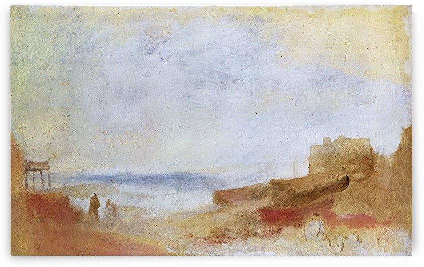 Coastal scene with buildings by Joseph Mallord Turner by Joseph Mallord Turner
