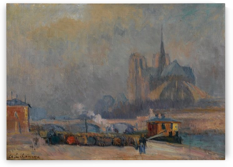 Notre Dame de Paris, View from the Quay of Tournelle by Albert lebourg