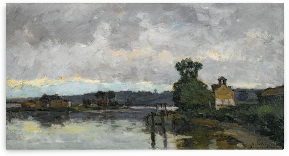 The Seine at Canteleau ain Summer by Albert lebourg