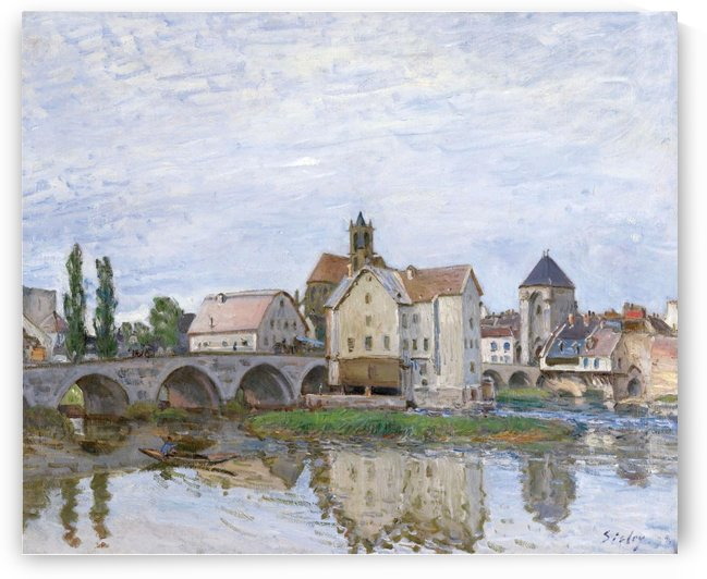 Moret-sur-Loing, Grey Weather by Alfred Sisley