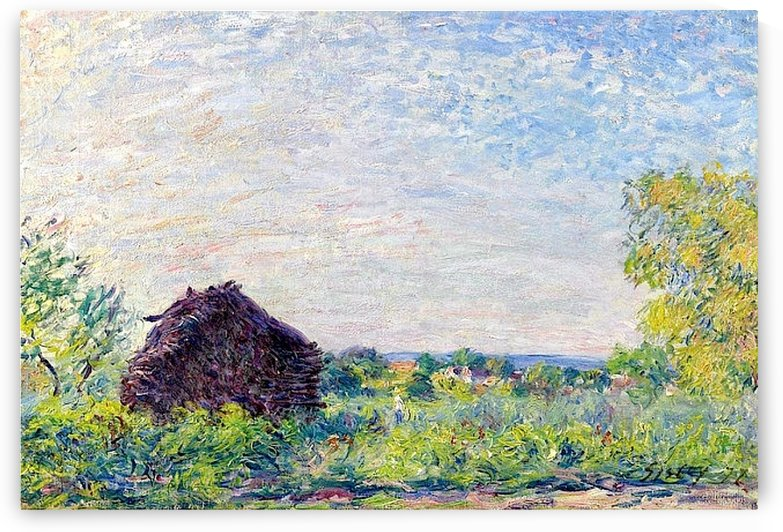 Landscape with the Stack of Firewood by Alfred Sisley