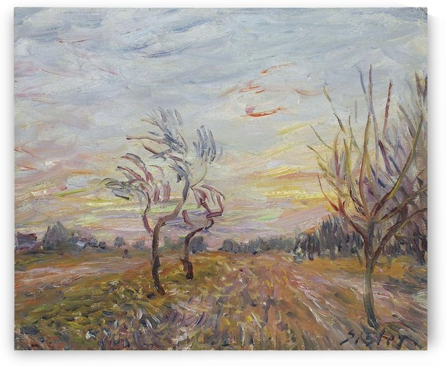 An Orchard in the Outskirts of Moret-sur-Loing by Alfred Sisley