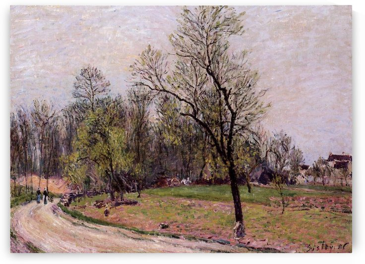Going to the Forest in Spring by Alfred Sisley