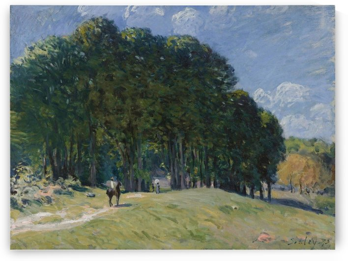 The Horseman by the Forest's Edge by Alfred Sisley