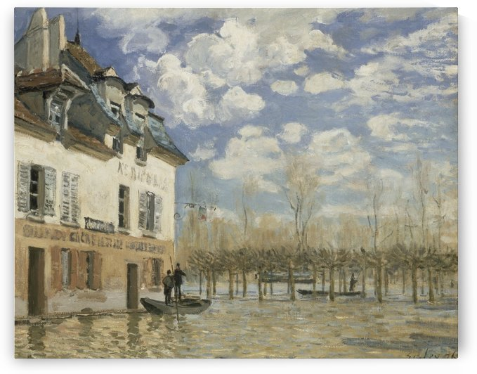 The Loing Channel, Tow-Path by Alfred Sisley