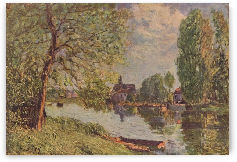 Landscape near Moret by Alfred Sisley