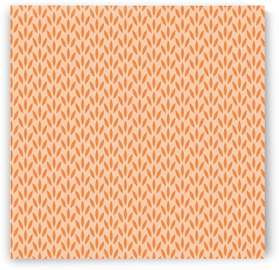 Orange Floral Seamless Pattern Background by rizu_designs