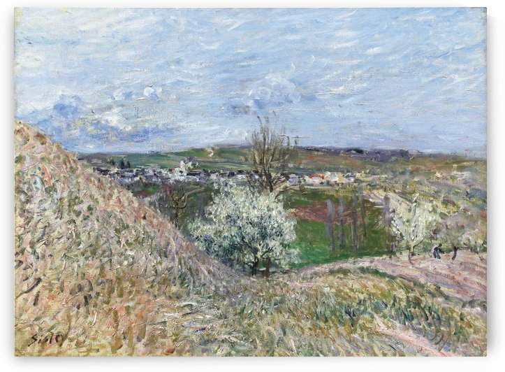The Hills of Saint-Mammes at Spring by Alfred Sisley