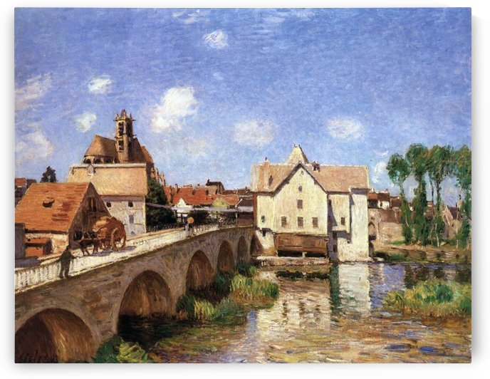 The Bridge of Moret canvas by Alfred Sisley