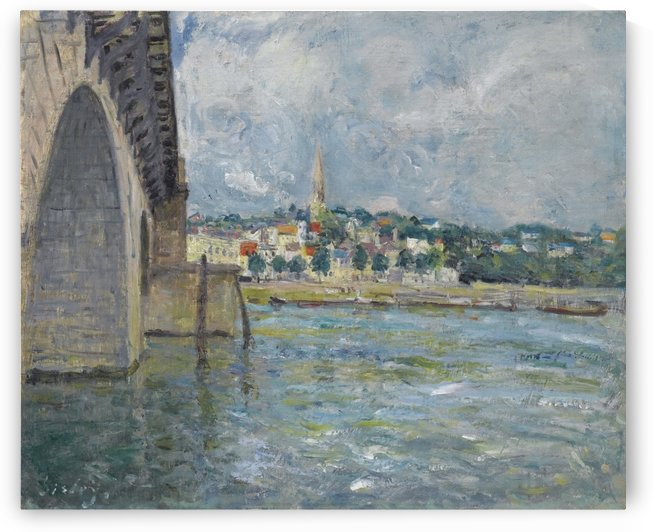 The Bridge St. Cloude by Alfred Sisley