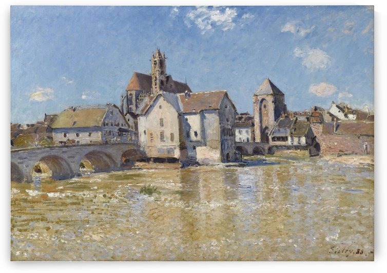 The Bridge of Moret, April Morning by Alfred Sisley