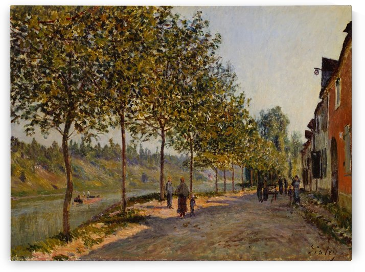 Saint-Mammes at Morning by Alfred Sisley
