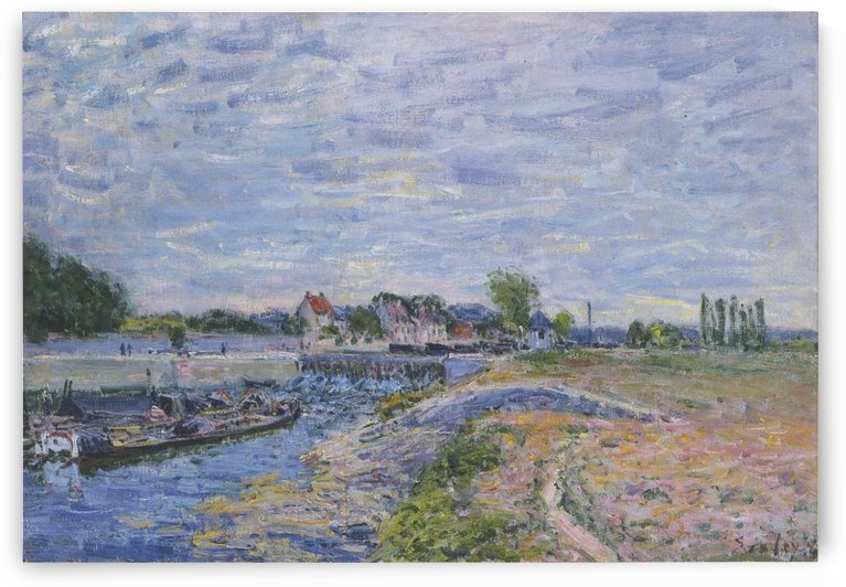 The Cows at the Bank of the Seine at Saint-Mammes by Alfred Sisley