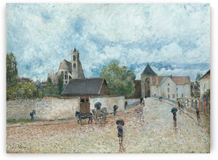 Moret-sur-Loing, the Rain by Alfred Sisley
