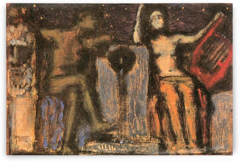 Couple at Fountain by Franz von Stuck by Franz von Stuck