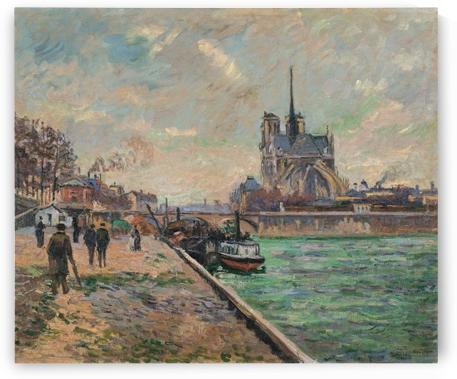 Paris, the Bridge of Marie by Armand Guillaumin