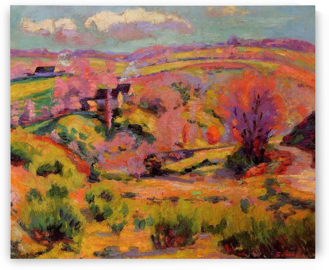 Landscape of the Creuse canvas by Armand Guillaumin