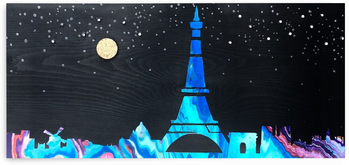 I love Paris on Wood 2 by COLOURS N CREATIONS
