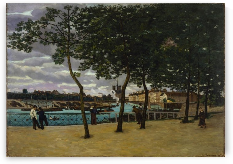 The Seine at Rouen canvas by Armand Guillaumin
