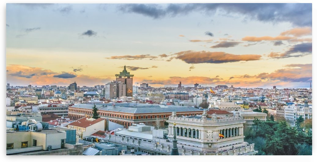Aerial View Madrid Cityscape Panoramic 2 by Daniel Ferreia Leites Ciccarino