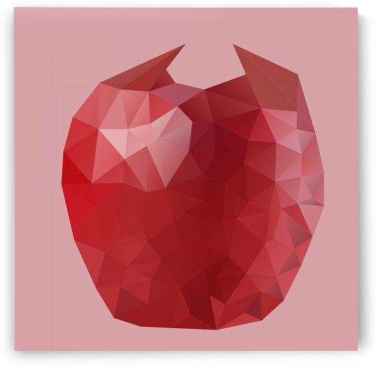 APPLE LOW POLY ART  by rizu_designs