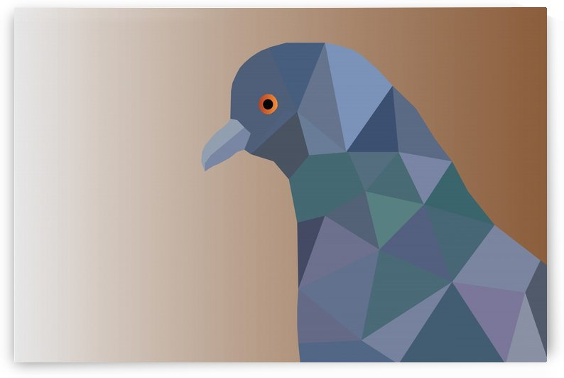PIGEON LOW POLY ART by rizu_designs