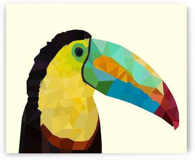 Toucan Bird LOW POLY ART by rizu_designs