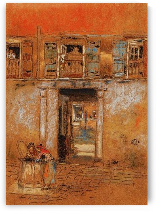 Courtyard on Canal, grey and red by Whistler by Whistler