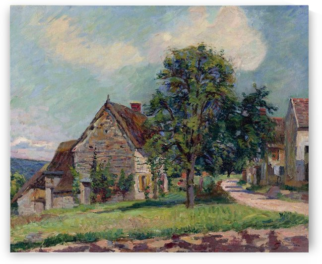 The Village of Damiette by Armand Guillaumin