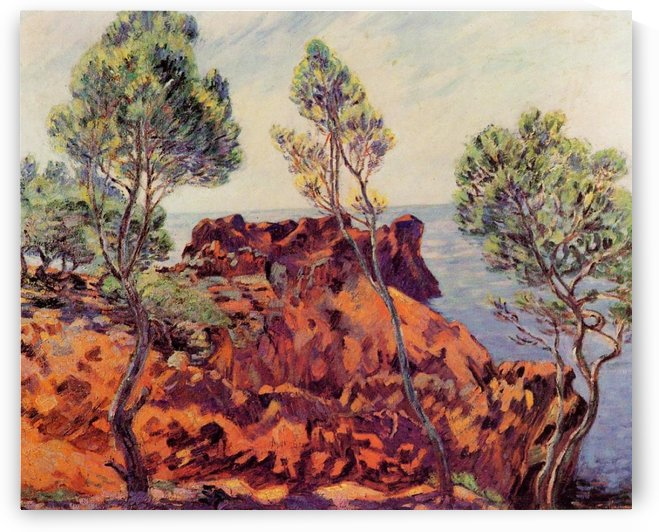 The Red Rocks at Agay by Armand Guillaumin