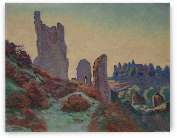The Castle Ruins in Crozant by Armand Guillaumin