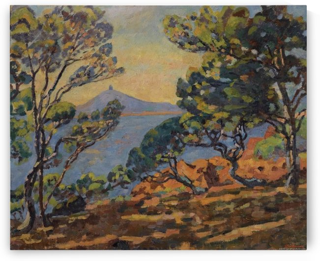 The Bay of Agay and the Semaphore by Armand Guillaumin