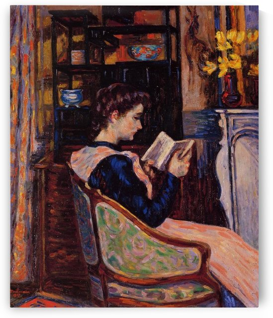 Mademoiselle Guillaumin Reading by Armand Guillaumin