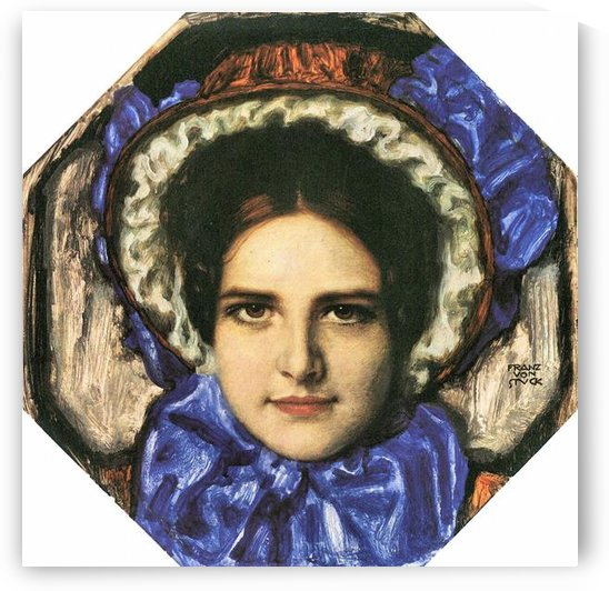 Daughter Mary by Franz von Stuck by Franz von Stuck