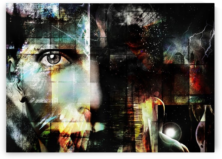 Woman Face - Surreal Art by Bruce Rolff