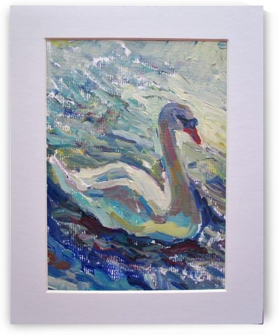 Royal Swan by Leah Maximova