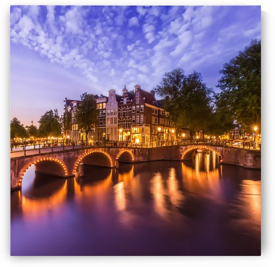 AMSTERDAM Idyllic nightscape from Keizersgracht and Leidsegracht  by Melanie Viola