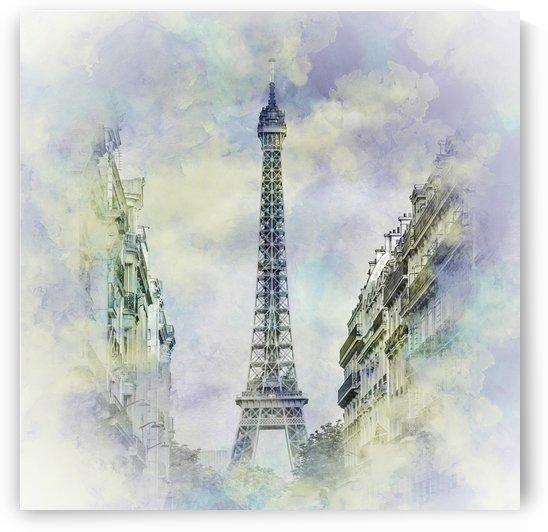 Parisian Flair   jazzy watercolor  by Melanie Viola