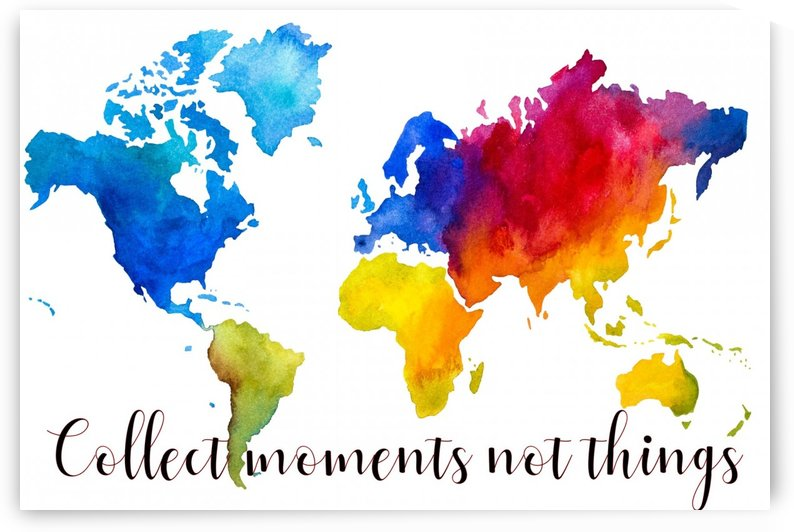 Map collect moments not things  by COLOURS N CREATIONS