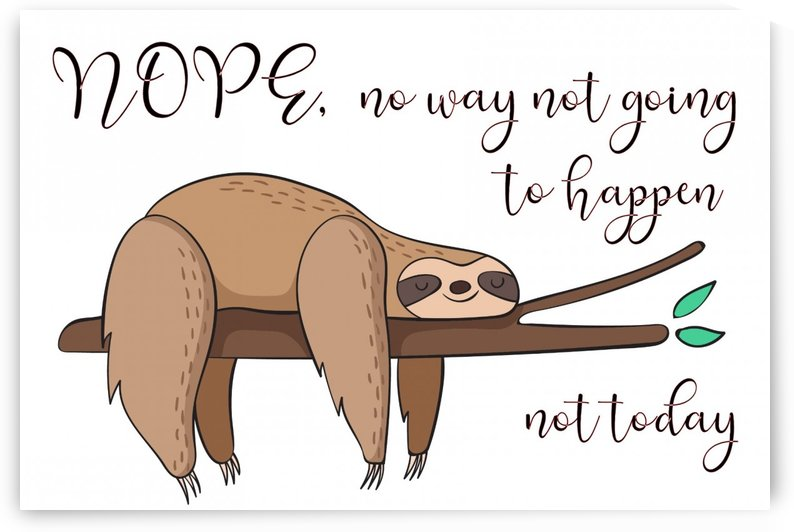 Nope not going to happen today grey by TBOHN PAINTS