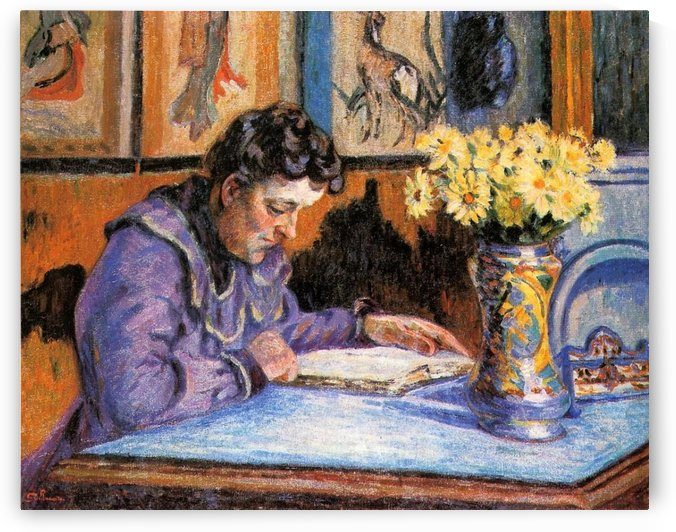 Madame Guillaumin canvas by Armand Guillaumin