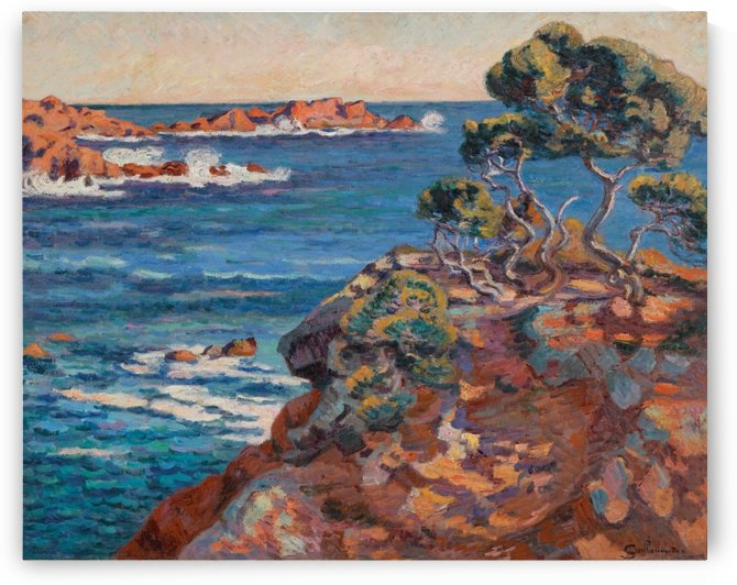 Sea Coast at Agay by Armand Guillaumin