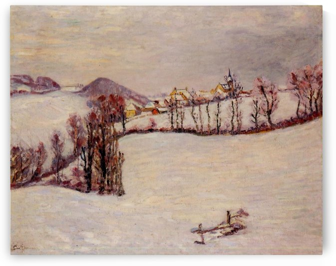 Saint-Samuel in Winter by Armand Guillaumin